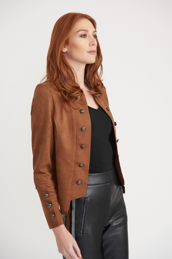 Joseph Ribkoff Womens Jacket, Style 203565 Color Brown