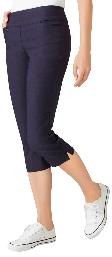 Lisette L Essentials Plus Size, Capri Pants Style LL26067 Jupiter Cotton Stretch (4 Colors Available)