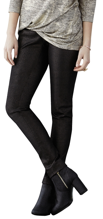 Lisette L. Slim Ankle Pants Style 19401 Gold Dust Denim Color Black