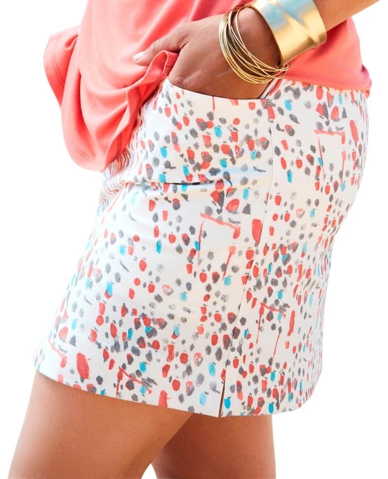 Lisette L Skort Style 265720 With Pockets Color Painted Dot Multi