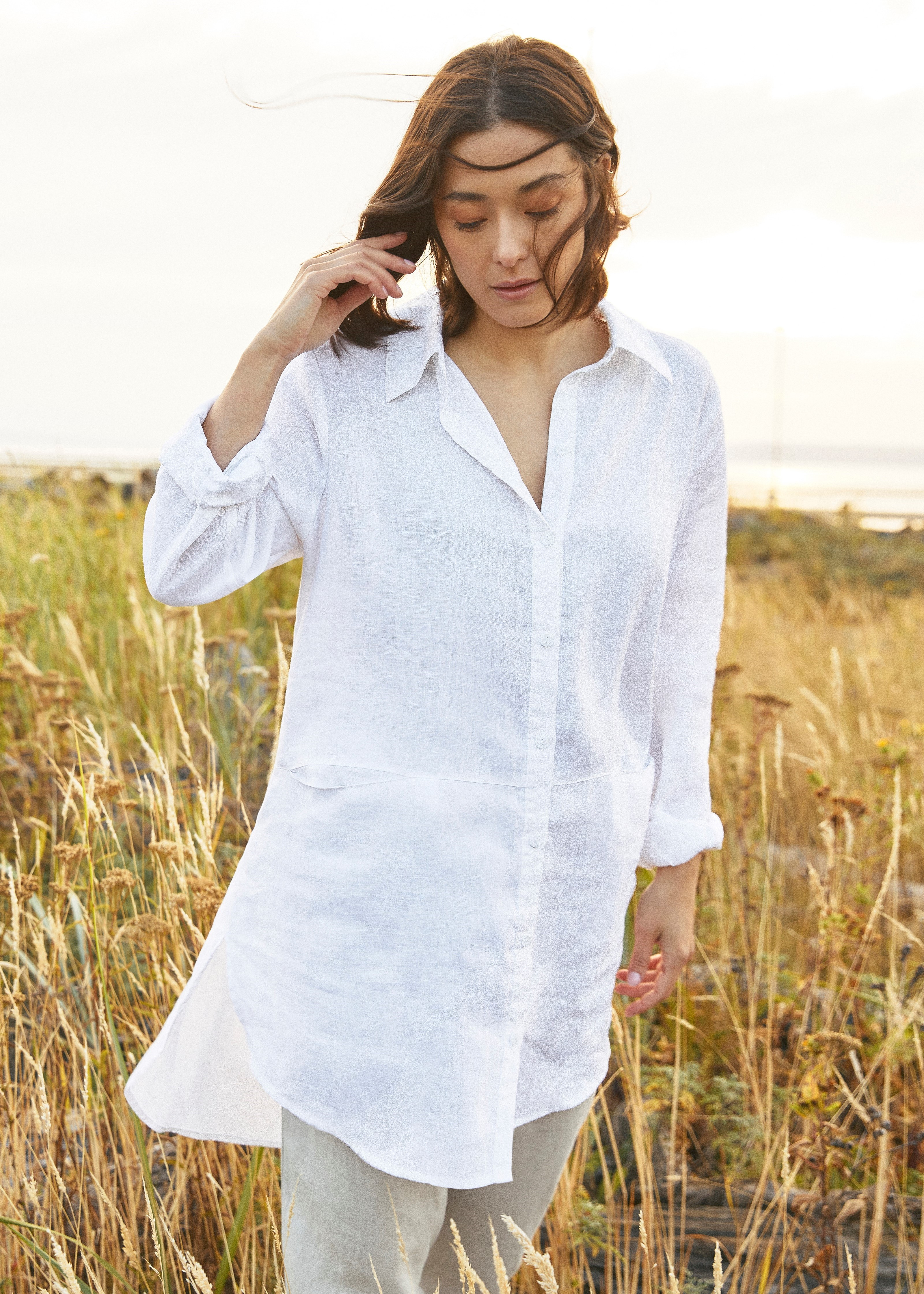 Sympli 100% Linen Shift Tunic Style LW2401, 2 Colors Available