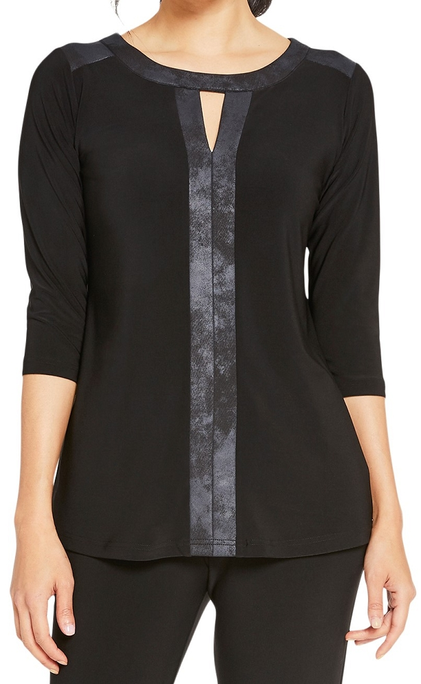 Sympli Womens Storm Mirror Top Style 22190-2 Color Black/Pewter