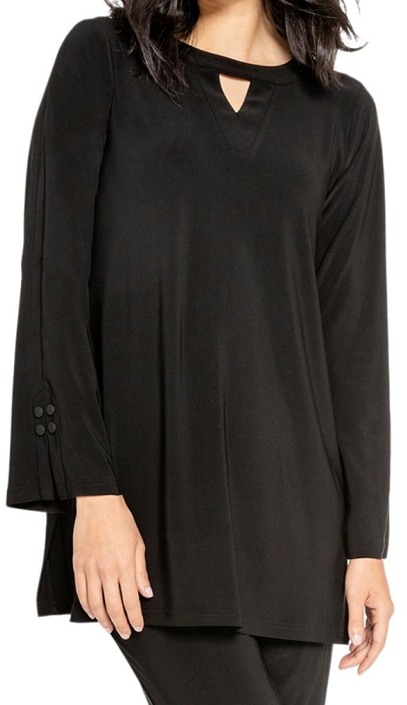 Sympli Womens Icon Mod Tunic Style 23147-3, Color Black Available