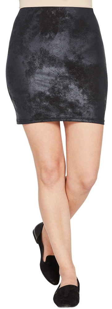 Sympli Womens Storm Mini Skirt Style 2676, Pewter Foil