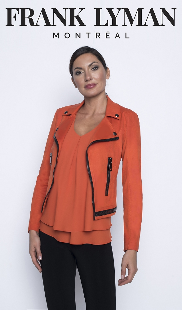 Frank Lyman Womens Jacket Style 196085U, Color Orange