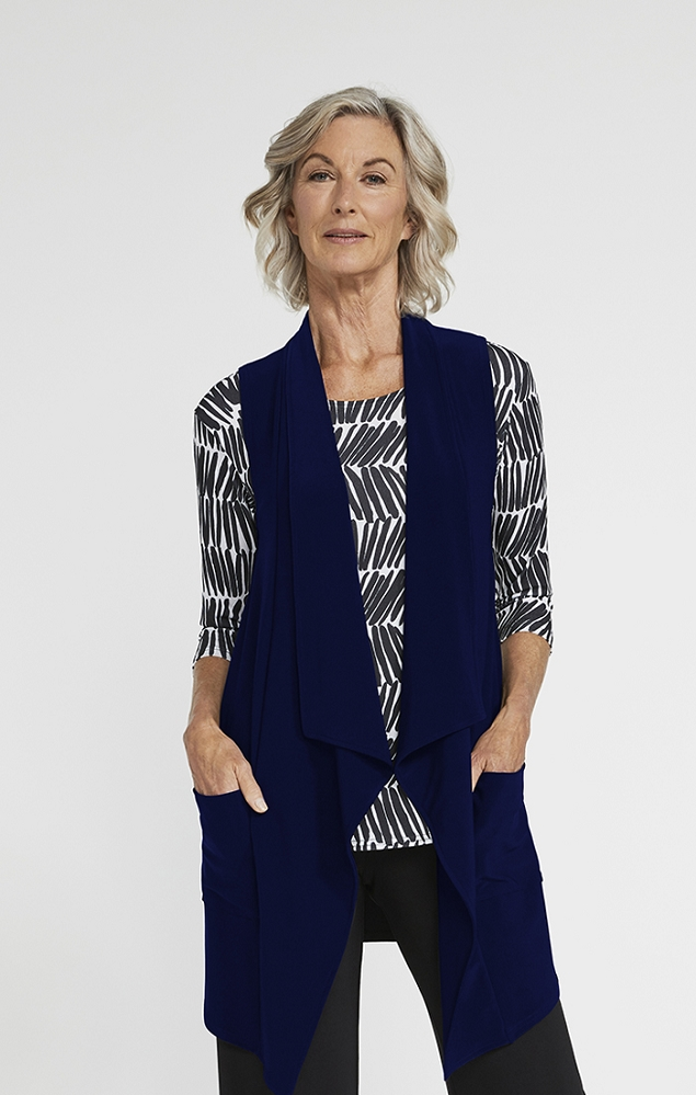 Sympli Womens Key Vest Style 21183, 3 Colors Available