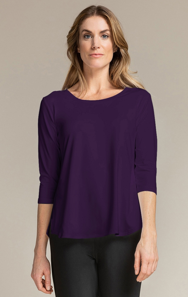 Sympli Go To Classic T Relax 3/4 Sleeves, Style 22110R-2, 10 Colors Available