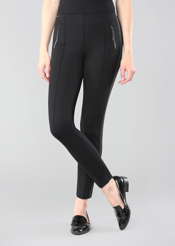 Lisette L. Slim Ankle Pant Style 25672 Hollywod With Invisible Zipper Color Black
