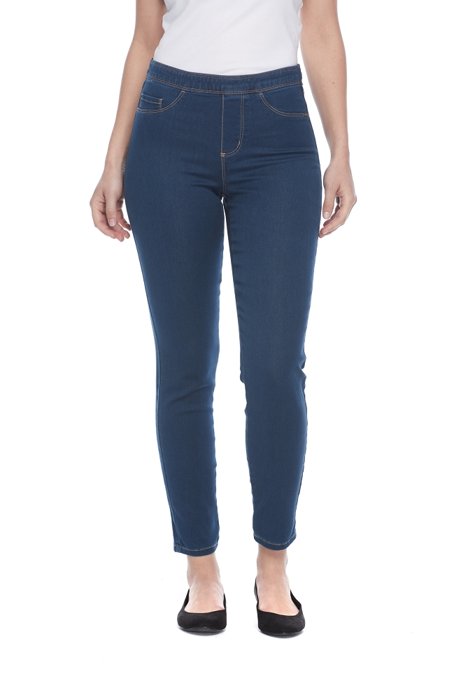 French Dressing Jeans Pull-On Slim Ankle Style 273906N D-LUX Denim, 2 Colors Available