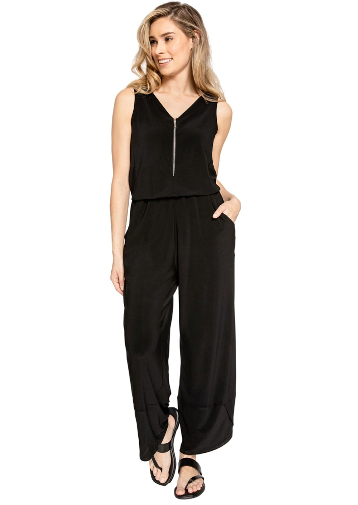Sympli Womens Sleeveless Zest Jumpsuit Style 28103 Color Black
