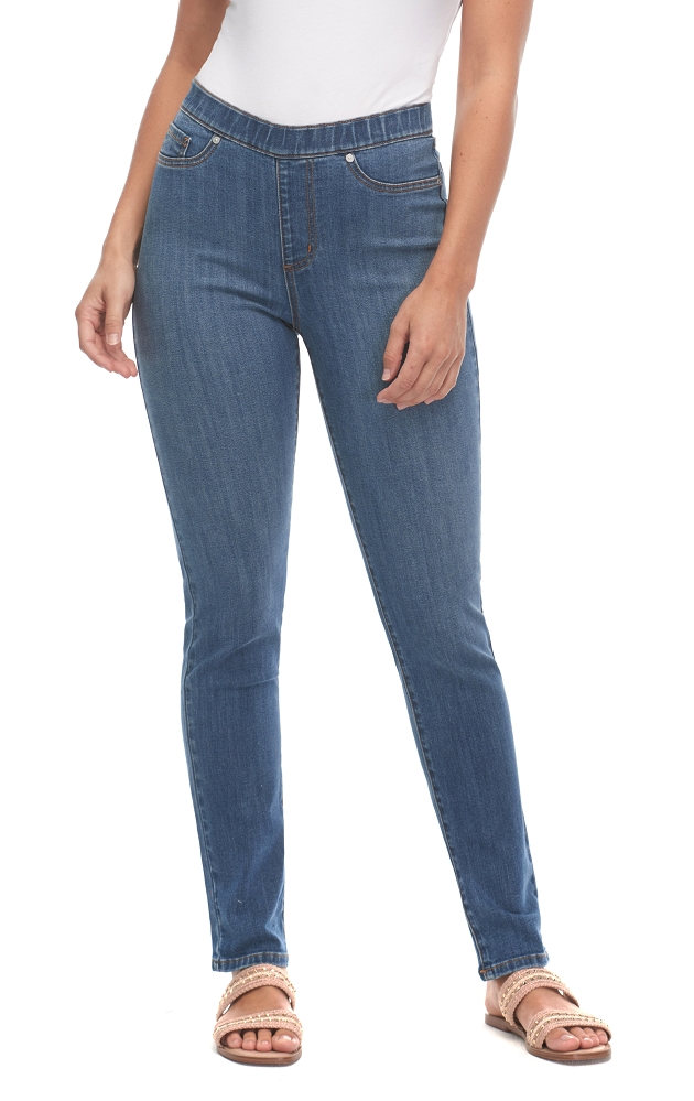 French Dressing Jeans, Pull On Cigarette Leg Style 2834322, Renew Denim, Mid Rise, Color Indigo