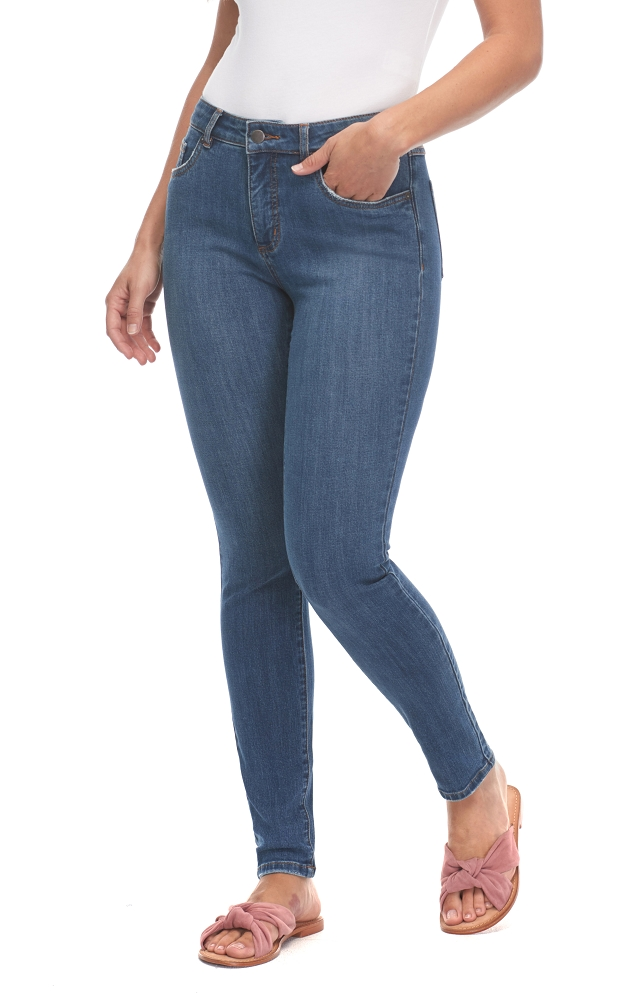 French Dressing Jeans, Olivia Slim Ankle Style 2949322, Renew Denim, Mid Rise, Color Indigo