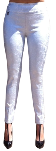 Lisette L Slim Ankle Pants Style 16101 Mirror Silver Print