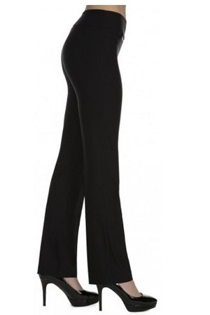 "Lisette L Essentials, True Straight Pants, Magical Lycra, Style 1715, Inseam 33"", 5 Colors Available"