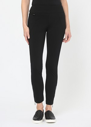 Lisette L. Zippered Ankle Pant Style 176648 Kathryne Color Black